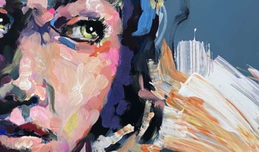 After Work: Expressives Gesicht in Acryl!