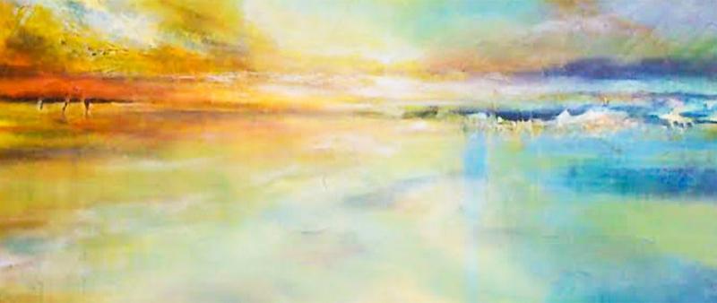 Faszination Himmel und Meer in Aquarell