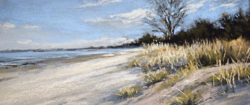 Küstenlandschaft in Pastell
