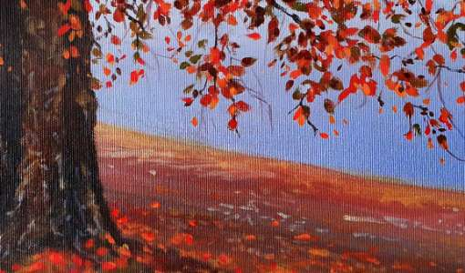 Herbstlandschaft in Acryl