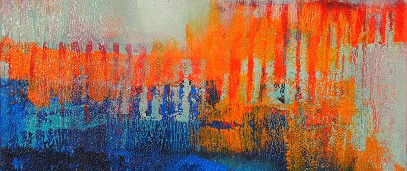 Gerollt, gedruckt, gemalt, gezeichnet – kreative Mischtechnik in der Acrylmalerei