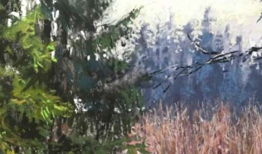 After Work: Negativmalerei im Pastell