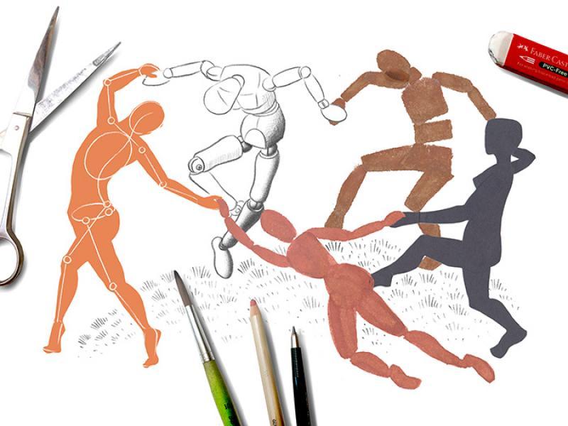 Ganz einfach Zeichnen lernen – Grundlagen der Figur – Artist ...
