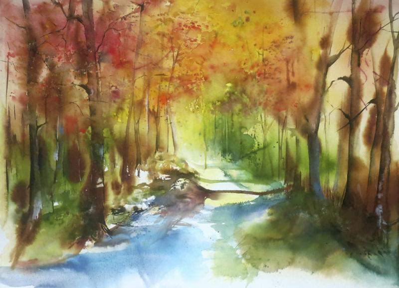 Farbstarke Landschaften in Aquarell
