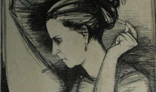 Porträt Litho
