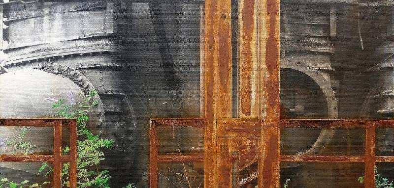 Malerei mit Rost