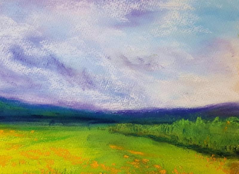 Zwischen Himmel und Erde - leuchtende Pastell-Landschaften