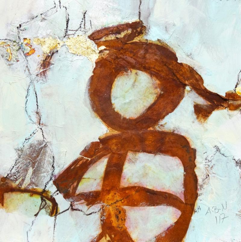 Malerei mit Rost und Pigmenten